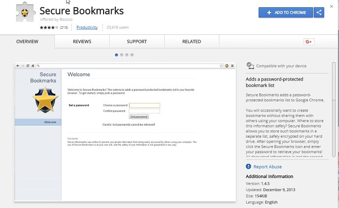 Secure Bookmarks