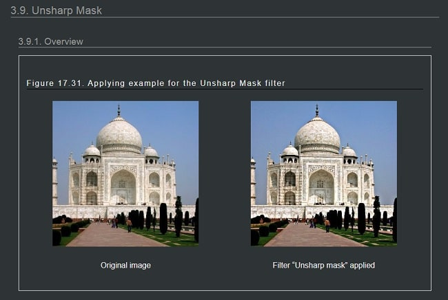 Unsharp Mask - GIMP Plugin