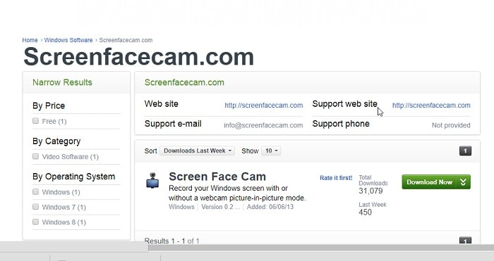 Screenfacecam