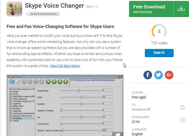 anonymous voice changer skype