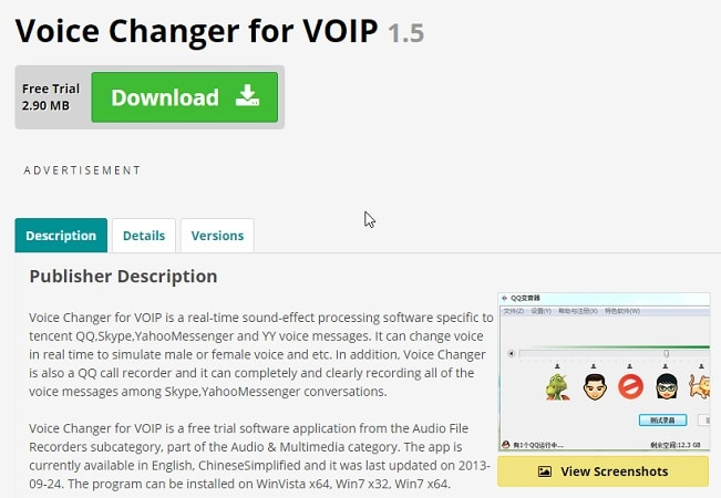 Voice Changer for VOIP