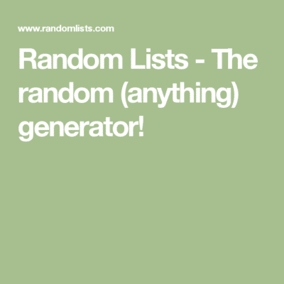 10 Best Random Address Generator Websites - TechWhoop