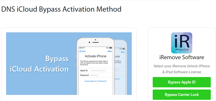 Bypass iCloud Activation by DNS