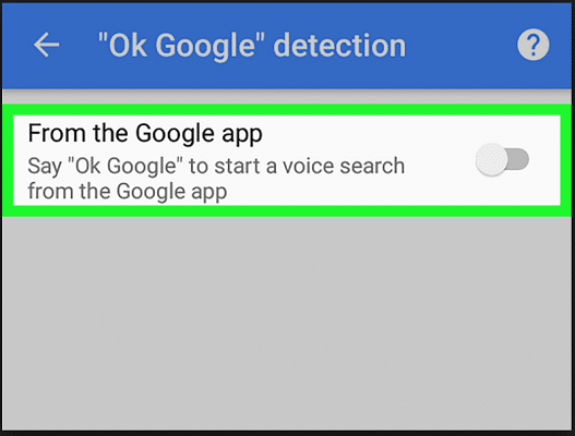 Disable Voice Search