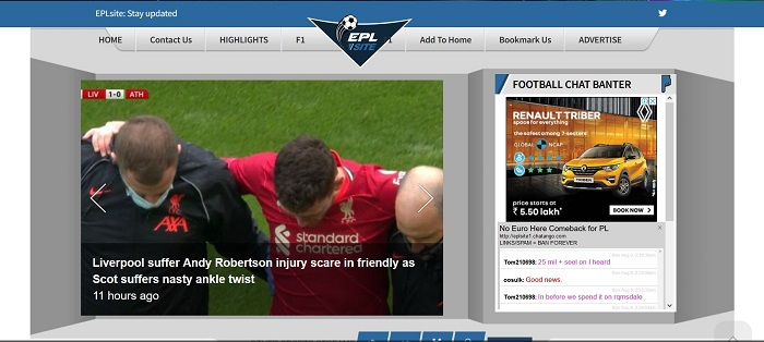 epl site- free sports streaming website