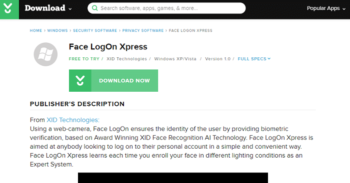 Face LogOn Xpress