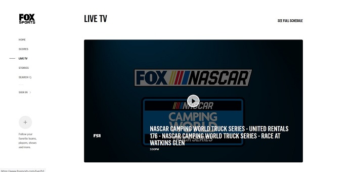 fox go- live sports streaming sites