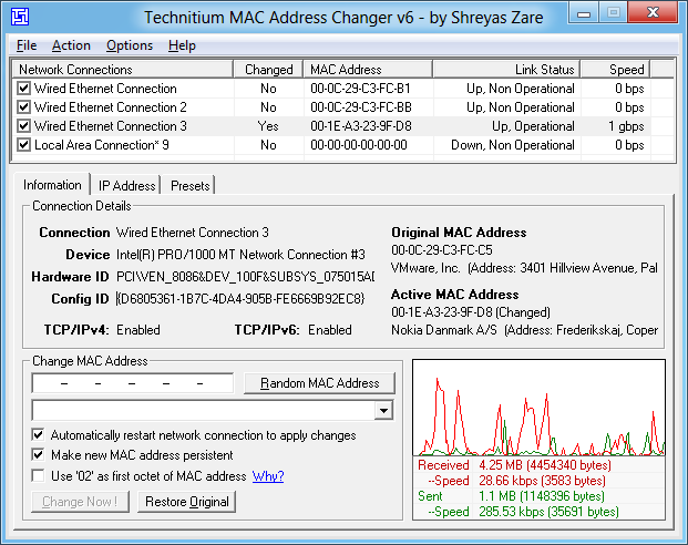 Free Mac Address Changer Tool