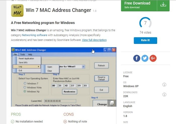 Win7 MAC Address