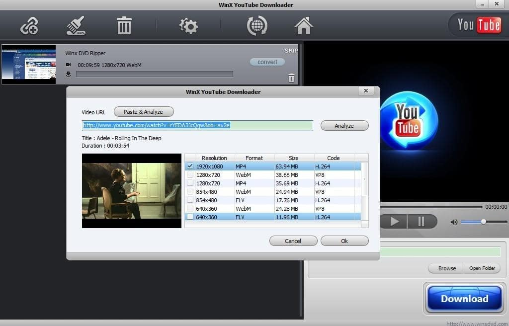 WinX YouTube Downloader | Video Grabber Tools