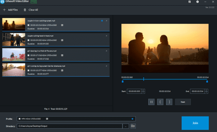 gihosoft free video joiner