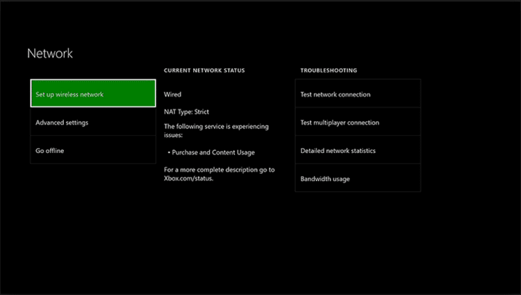 Internet on Xbox One