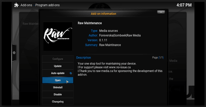 Raw Maintenance Add-on