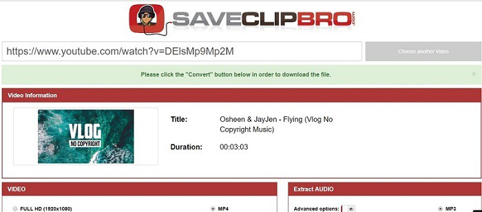 Saveclipbro Vimeo to MP4