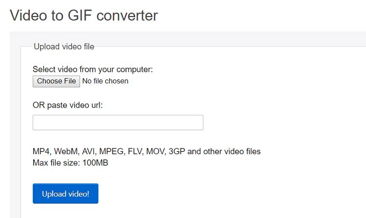 Video to GIF converter