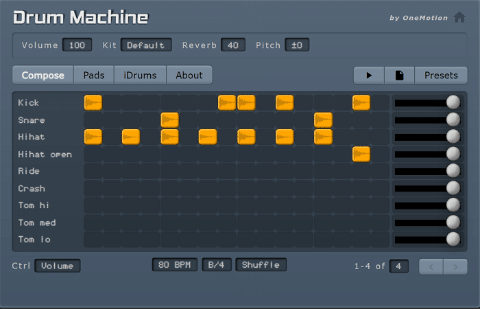 One Motion's Drum Machine