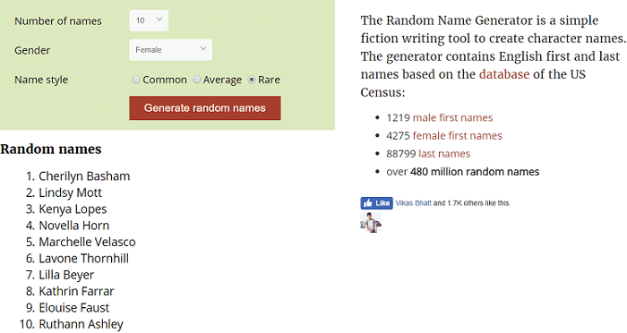 8 Best Free Random Name Generator Tools In 2018