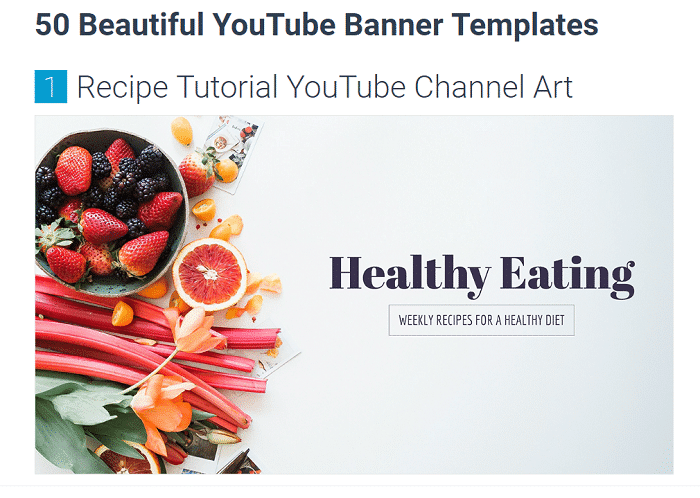 Visme YouTube Banner Templates