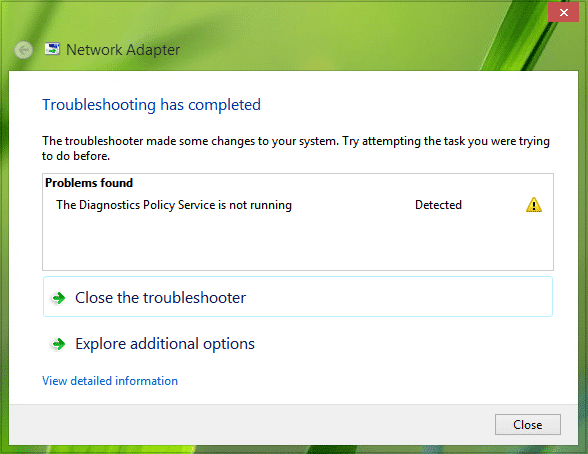Windows Diagnostic Policy Service is Not Running