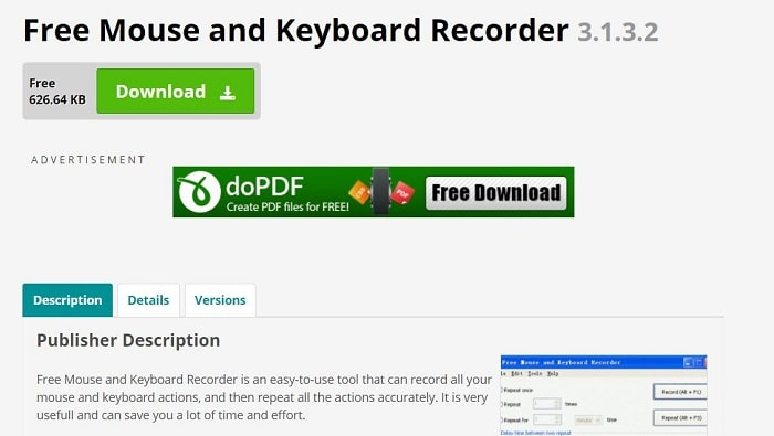 Free Mouse and keyboard recorder
