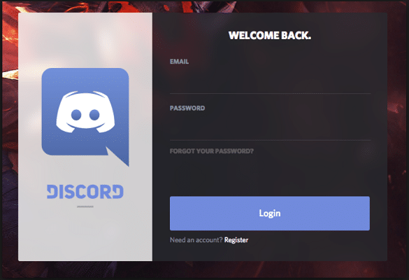 Log in to Discord Account