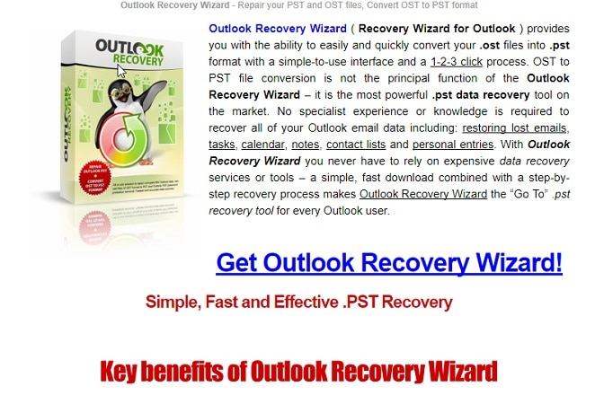 Outlook Recovery