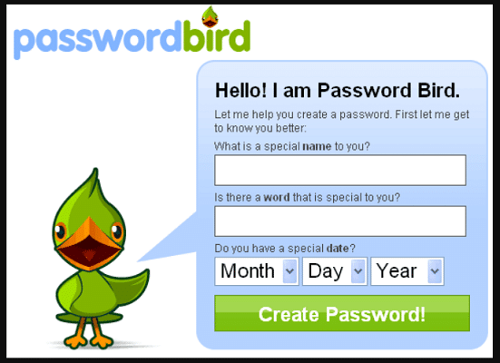 Password Bird