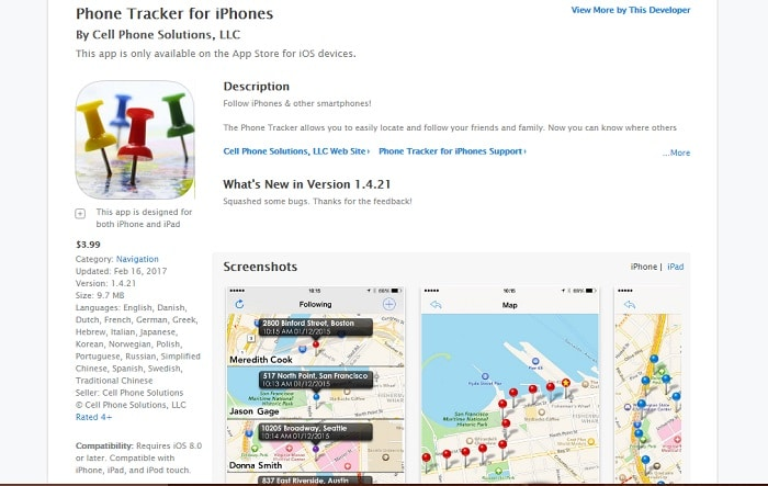 Phone Tracker for iPhone