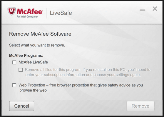Remove McAfee Anti-Virus