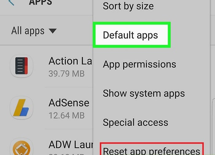 Reset all App Preferences