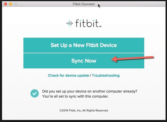 Sync your Fitbit Manually