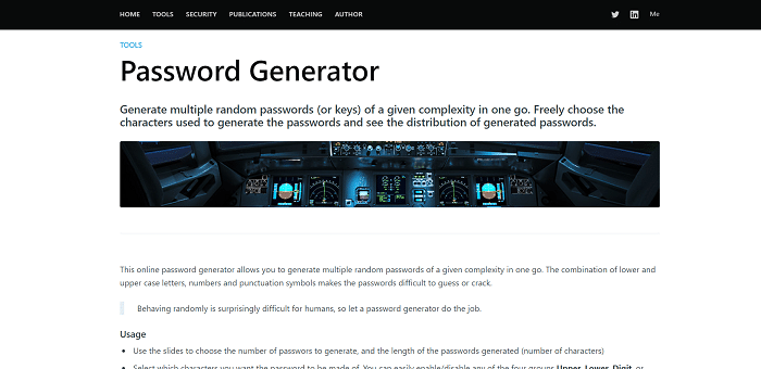 Techzoom password generator