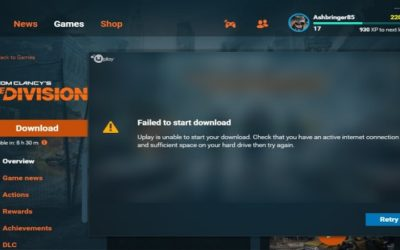 Uplay Failed to Start Download