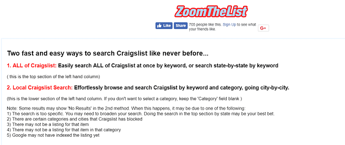 Craigslist Search Engine Easily Search ALL of Craigslist