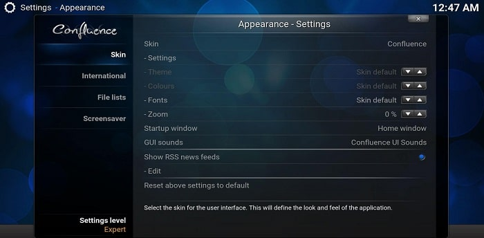 Change-Kodi-Skin-Settings-Skin