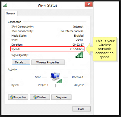 Check for the WiFi network connection