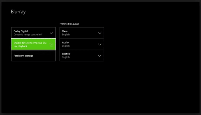Clear persistent storage on Xbox One