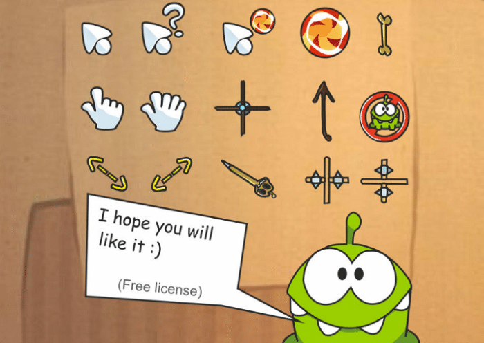 cut the rope cursors
