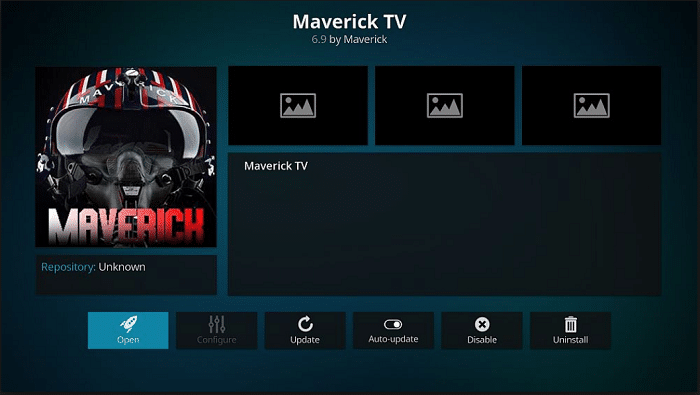 Maverick TV addon on Kodi