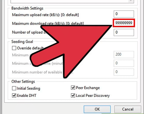 Maximum Download Speed in uTorrent