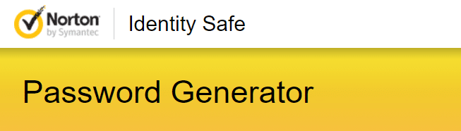 Norton Identity Safe Password Generator