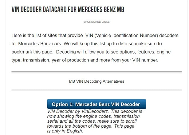 Official Mercedes Benz catalog