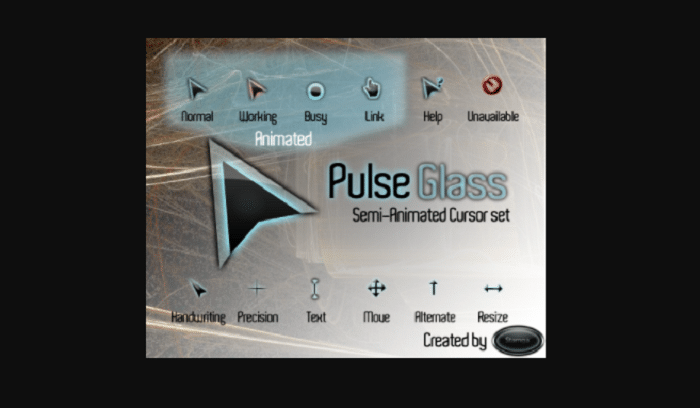 pulse glass custom mouse pointers