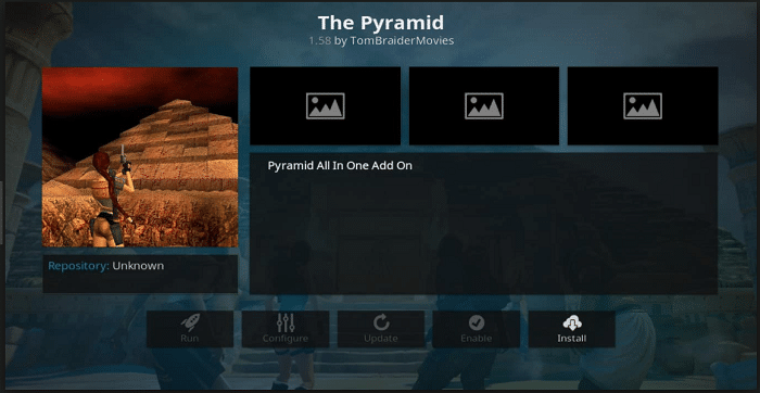 Pyramid Addon on Kodi
