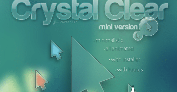 crystal clear custom mouse pointers
