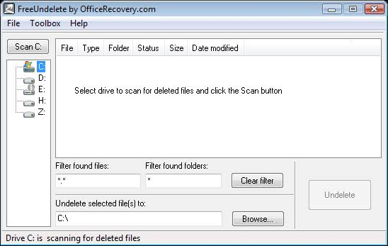Free Undelete Recovery Software