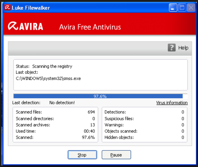 Scan with Avira