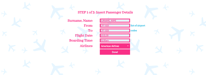 Flight Ticket Details