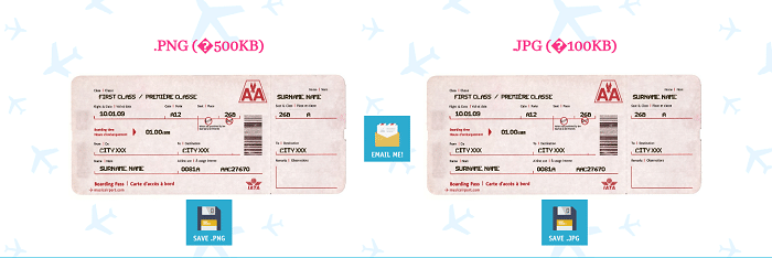 Generated Flight Ticket