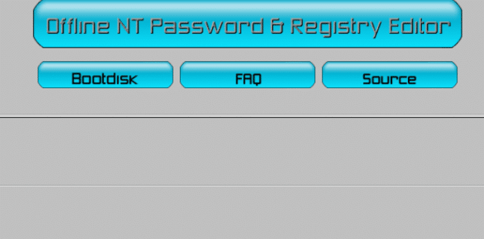 Offline NT Password & Registry Editor